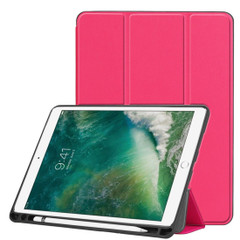 iPad Air 3 (2019) Case Rose Red Karst Texture PU Leather Flip-Style Cover with Kickstand & Pen Slot | Free shipping across Australia