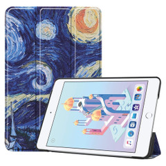 iPad mini 5 2019 Case Starry Sky Pattern Karst Texture PU Leather Folio Cover with 3-fold Holder, Sleep/Wake-up Function | Free Delivery Across Australia