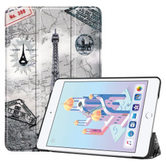 iPad mini 5 2019 Case Retro Tower Pattern Karst Texture PU Leather Folio Cover with Sleep/Wake Function, 3-fold Stand | Free Delivery Across Australia