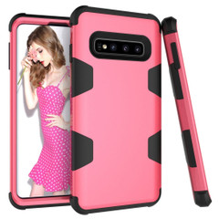 Samsung Galaxy S10 Plus Case Rose Red Armour Silicone & PC Shockproof Anti-Slip Back Cover