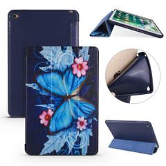 iPad mini 5 (2019) Case Butterflies Pattern PU Leather + TPU 3-fold Holder & Honeycomb Cover   Free shipping across Australia