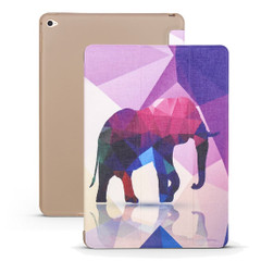 iPad mini 5 (2019) Case Elephant Pattern PU Leather + TPU 3-fold Holder & Honeycomb Cover | Free shipping across Australia