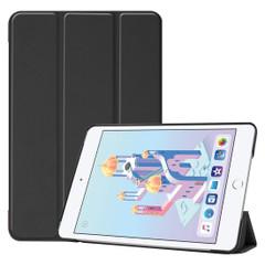 iPad mini 5 (2019) Case Black Karst Texture Smart PU Leather Folio Cover with Sleep/Wake Function, 3-fold Holder | Free Shipping Across Australia