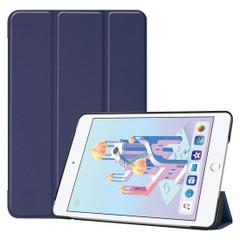 iPad mini 5 (2019) Case Blue Karst Texture Smart PU Leather Folio Cover with Sleep/Wake Function, 3-fold Holder | Free Shipping Across Australia