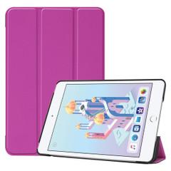 iPad mini 5 (2019) Case Purple Karst Texture Smart PU Leather Folio Cover with Sleep/Wake Function, 3-fold Holder | Free Shipping Across Australia