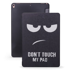iPad Air 3 (2019) Case Angry Expression Pattern PU Leather & Honeycomb TPU Folio Cover | Free Delivery Across Australia