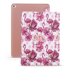 iPad mini 5 (2019) Case Flamingo Pattern PU Leather & Honeycomb TPU Folio Cover | Free Delivery Across Australia