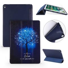 iPad Air 3 (2019) Case Blue Tree Pattern PU Leather & Honeycomb TPU Folio Cover | Free Delivery Across Australia