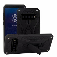 Samsung Galaxy S10 Case, Armour Strong Shockproof Cover with Kickstand, Black | Armor Samsung Galaxy S10 Cases | Armor Samsung Galaxy S10 Covers | iCoverLover