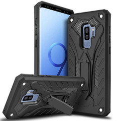 Samsung Galaxy S9+ Plus Case, Armour Strong Shockproof Cover with Kickstand, Black | Armor Samsung Galaxy S9+ Plus Cases | Armor Samsung Galaxy S9+ Plus Covers | iCoverLover