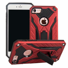 iPhone SE (2020) / 8 / 7 Case, Armour Strong Shockproof Cover with Kickstand, Red | iCoverLover