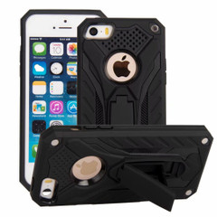 iPhone SE (1st gen), 5s & 5 Case, Armour Strong Shockproof Tough Cover with Kickstand, Black | Armor iPhone SE (1st gen), 5s & 5 Cases | Armor iPhone SE (1st gen), 5s & 5 Covers | iCoverLover