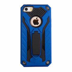 iPhone 5, 5S & SE Case, Armour Strong Shockproof Tough Cover with Kickstand, Blue | Armor iPhone 5, 5S & SE Cases | Armor iPhone 5, 5S & SE 5C Covers | iCoverLover