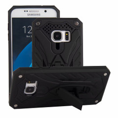 Samsung Galaxy S7 Case, Armour Strong Shockproof Cover with Kickstand, Black | Armor Samsung Galaxy S7 Cases | Armor Samsung Galaxy S7 Covers | iCoverLover