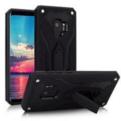 Samsung Galaxy S9 Case, Armour Strong Shockproof Cover with Kickstand, Black | Armor Samsung Galaxy S9 Cases | Armor Samsung Galaxy S9 Covers | iCoverLover