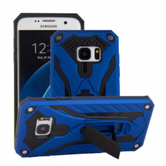 Samsung Galaxy S7 EDGE Case, Armour Strong Shockproof Cover with Kickstand, Blue | Armor Samsung Galaxy S7 Edge Cases | Armor Samsung Galaxy S7 Edge Covers | iCoverLover