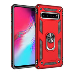 Samsung Galaxy S10 5G Case Red Armour Shockproof TPU + PC Cover with 360 Degree Rotation Holder | Free Delivery across Australia