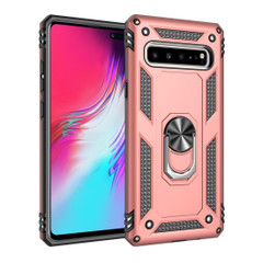 Samsung Galaxy S10 5G Case Rose Gold Armour Shockproof TPU + PC Cover with 360 Degree Rotation Holder | Free Delivery across Australia