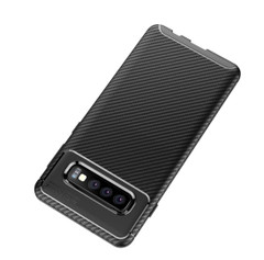 Samsung Galaxy S10 5G Case Blue Carbon Fiber Texture Shockproof TPU Anti-Smudge Protective Cover   Free Delivery across Australia