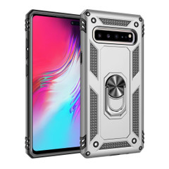 Samsung Galaxy S10 5G Case Silver Armour Shockproof TPU + PC Cover with 360 Degree Rotation Holder | Free Delivery across Australia