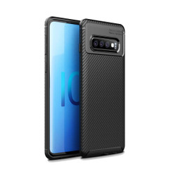 Samsung Galaxy S10 5G Case Black Carbon Fiber Texture Shockproof TPU Anti-Smudge Protective Cover | Free Delivery across Australia