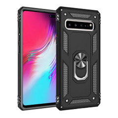 Samsung Galaxy S10 5G Case Black Armour Shockproof TPU + PC Cover with 360 Degree Rotation Holder | Free Delivery across Australia
