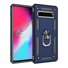 Samsung Galaxy S10 5G Case Blue Armour Shockproof TPU + PC Cover with 360 Degree Rotation Holder | Free Delivery across Australia