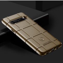 Samsung Galaxy S10 5G Brown Shockproof Rugged Shield Full Coverage Protective Silicone Case | Free Delivery across Australia