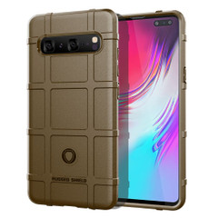 Samsung Galaxy S10 5G Brown Shockproof Rugged Shield Full Coverage Protective Silicone Case   Free Delivery across Australia