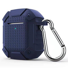 Apple AirPods 1/2 Case Dark Blue Wireless Version Armor Silicone Protective Box with Shockproof and Non-slip Texture   Free Delivery across Australia