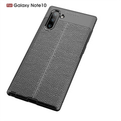 Samsung Galaxy Note 10 Case Black Lychee Texture TPU shock-proof Protective Back Shell, Anti-Scratch, Anti-Slip | Free Delivery in Australia