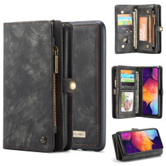 Samsung Galaxy S10 5G Case Black PU Leather Folio Cover with Detachable Inner Case, Zipper Wallet, Card and Cash Slots