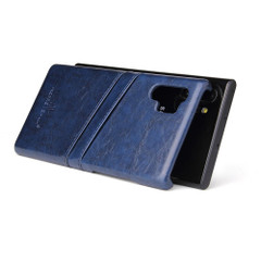 Samsung Galaxy Note 10 Plus Case Blue Deluxe PU Leather Back Shell with 2 Card Slots, Slim and Lightweight Build & Shockproof | Leather Samsung Galaxy Note 10 Plus Covers | Leather Samsung Galaxy Note 10 Plus Cases | iCoverLover