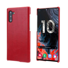 Red Elegant Genuine Leather Samsung Galaxy Note 10 Case   Samsung Galaxy Note 10 Genuine Leather Covers   Samsung Galaxy Note 10 Leather Cases   iCoverLover