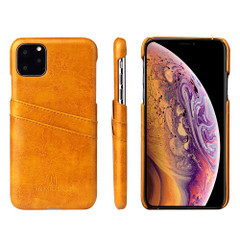 iPhone 11 Pro Case Blue Deluxe PU Leather Back Shell with 2 Card Slots, Ultra Slim Build & Impact-Resistant | Leather iPhone 11 Pro Covers | Leather iPhone 11 Pro Cases | iCoverLover