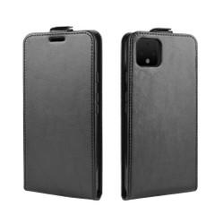 Google Pixel 4 Vertical Flip Case, Black, Card Slot | iCoverLover