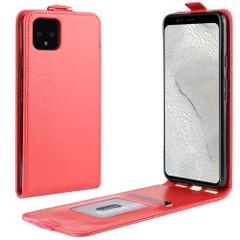 Google Pixel 4 XL Vertical Flip Case, Red, Card Slot | iCoverLover