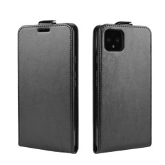 Google Pixel 4 XL Vertical Flip Case, Black, Card Slot | iCoverLover
