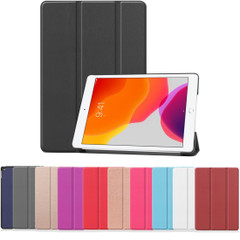iPad 10.2in (2021,2020,2019) Case Stand , PU Leather Flip Cover, 3-Fold Smart FunctioniPad Cases   iCoverLover.com.au