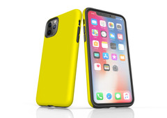 iPhone 11 Pro Max, 11 Pro, 11, XS Max, XS/X, XR, 8/7/6 Plus, SE/5S/5 Tough Case, Yellow | iCoverLover
