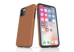 iPhone 11 Pro Max, 11 Pro, 11, XS Max, XS/X, XR, 8/7/6 Plus, SE/5S/5 Tough Case, Brown   iCoverLover
