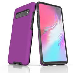 Samsung Galaxy S20 Ultra/S20+/S20,S10 5G/S10+/S10/S10e, S9+/S9, S8+/S8 Case, Armour Tough Protective Cover, Purple