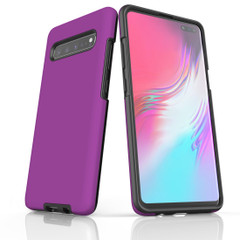 Samsung Galaxy S10 5G, S10+/S10/S10e, S9+/S9, S8+/S8, S7e/S7 Case, Armour Tough Protective Cover, Purple