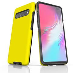 Samsung Galaxy S20 Ultra/S20+/S20,S10 5G/S10+/S10/S10e, S9+/S9, S8+/S8 Case, Armour Tough Protective Cover, Yellow