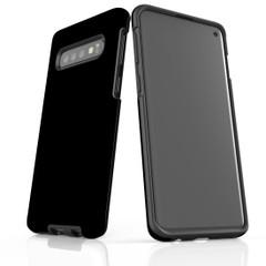 Samsung Galaxy S20 Ultra/S20+/S20,S10 5G/S10+/S10/S10e, S9+/S9, S8+/S8 Case, Armour Tough Protective Cover, Black