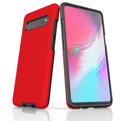 Samsung Galaxy S20 Ultra/S20+/S20,S10 5G/S10+/S10/S10e, S9+/S9, S8+/S8 Case, Armour Tough Protective Cover, Red