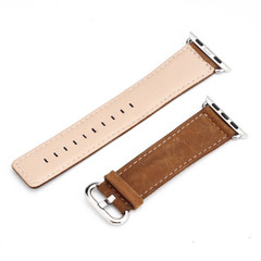 Wristwatch 44mm,42mm for Apple Watch Series 1,2,3 and 4 Premium Genuine Leather Strap Brown