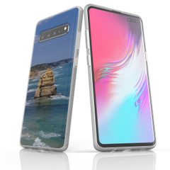 Samsung Galaxy S10 5G, S10+/S10/S10e, S9+/S9, S8+/S8 Case, Clear Soft Protective Cover, Famous Rocks | iCoverLover