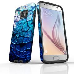 Samsung Galaxy S20 Ultra/S20+/S20, S10 5G, S10+/S10/S10e, S9+/S9, S8+/S8, S7e/S7 Case Protective Cover, Blue Mirror   iCoverLover Australia