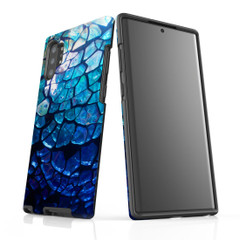 Samsung Galaxy Note 10+ Plus Note 10 Note 9 Note 8 & Note 5 Case Protective Tough Cover, Blue Mirror   iCoverLover Australia